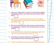 Y3 problem-solving: division worksheet