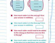 Y4 capacity word problems worksheet