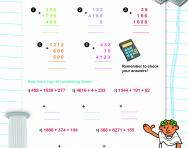 Column addition practice worksheet
