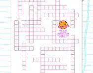 Y4 criss-cross word puzzle