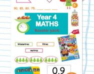 Year 4 maths booster pack