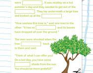 Year 1 Cloze test: the talking tree