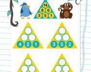Year 1 number pyramids: 1