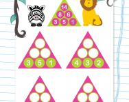 Year 1 number pyramids: 2