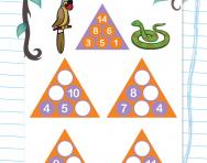 Year 1 number pyramids: 3