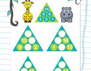 Year 1 number pyramids: 4