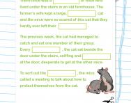 Year 2 Cloze test: the cat and the mice