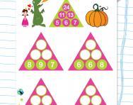 Year 2 number pyramids: 2
