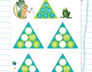Year 2 number pyramids: 4