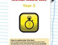Year 3 mental maths test