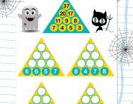 Year 3 number pyramids: 1