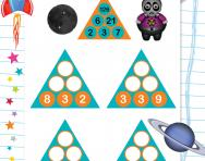 Year 4 number pyramids: 5