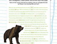 Year 6 Cloze test: Mowgli in the jungle