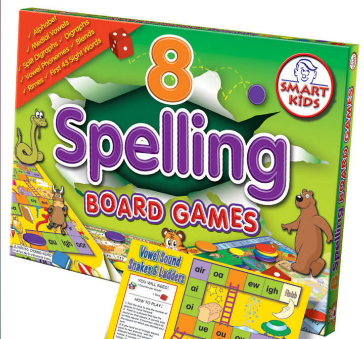 8 Spelling Board Games