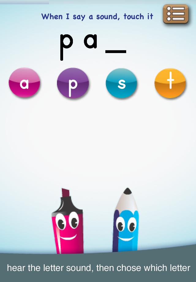 abc PocketPhonics iPhone / iPad app