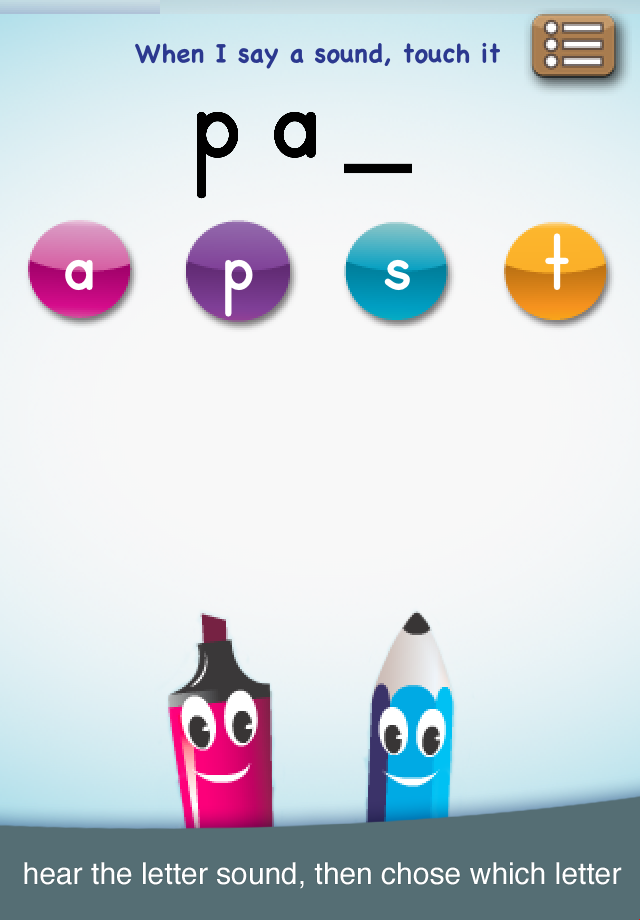 abc PocketPhonics iPhone / iPad app
