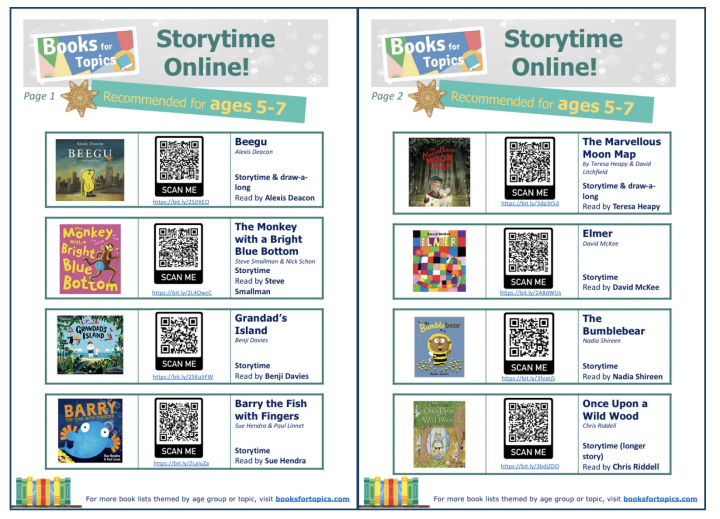 Books for Topics Storytime online