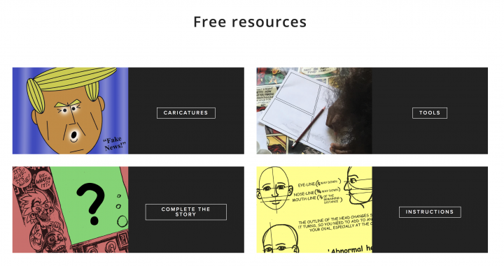Downloadable cartooning resources from the Cartoon Museum