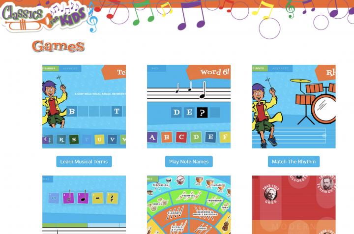 Classics for Kids® games