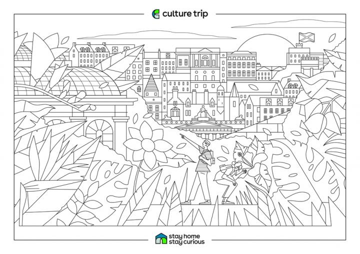 Culture Trip's travel-inspired colouring pages