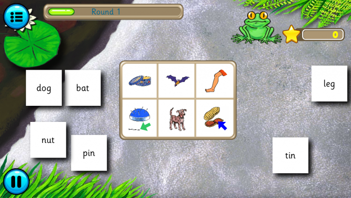 Froggy Match-It Phonics app