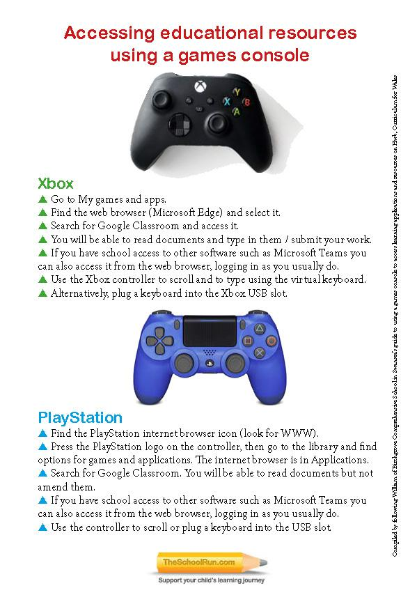 Using gaming consoles for educational access