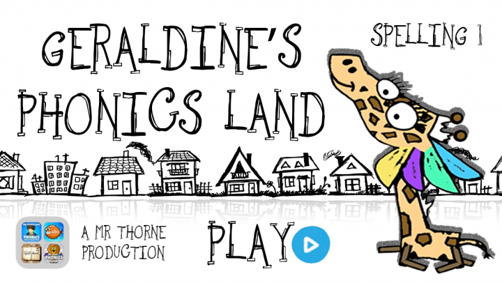 Geraldine's Phonics Land app