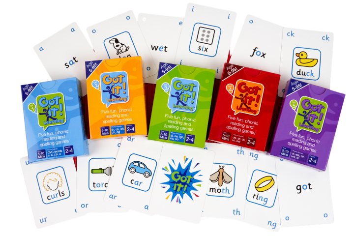 Got it! Learning spelling card games
