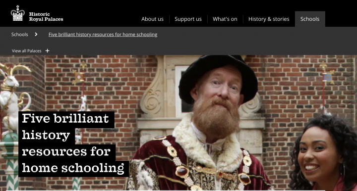 Historic Royal Palaces home schooling resources