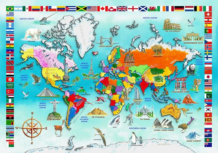I Know my World Map Jigsaw Puzzle