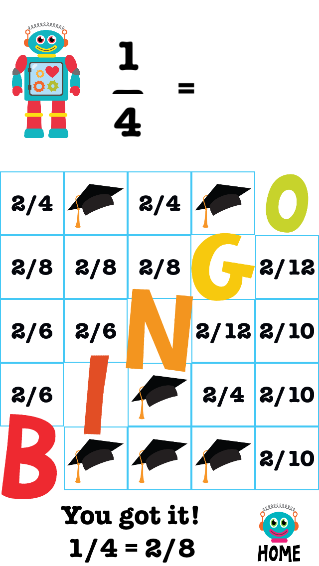 Booop Bop: Bingo Fractions