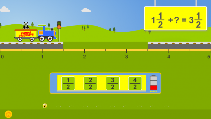 Fractions with Trains