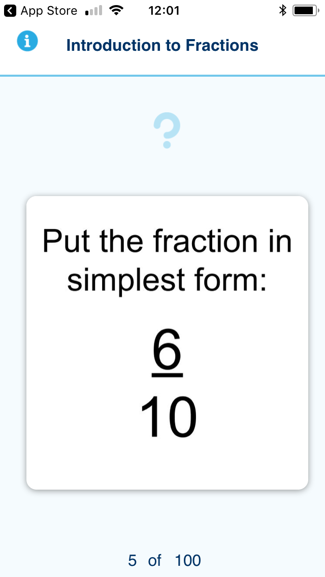 Learn It Flashcards: Introduction to Fractions