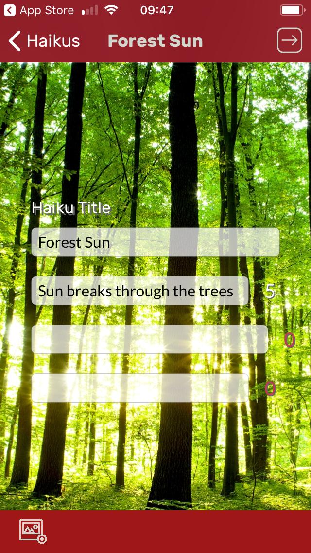 FiveSevenFive Haiku app