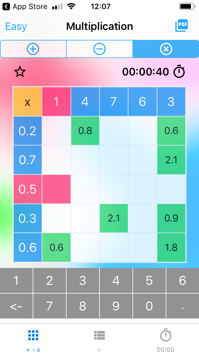 Kids Maths Grids – Decimals app