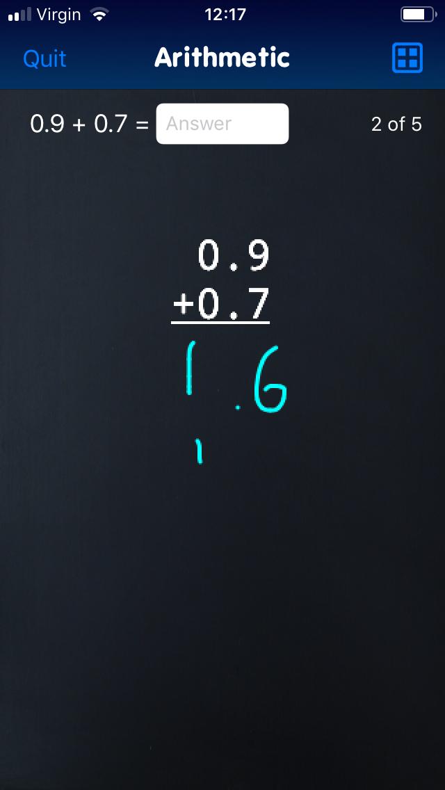 EG Classroom Decimals app