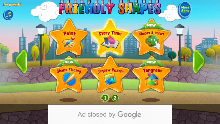 Friendly Shapes app