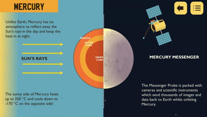 Astro Cat's Solar System app