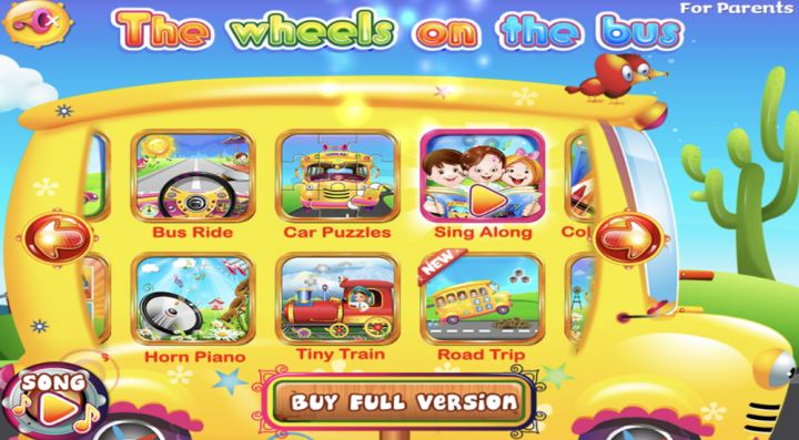 The Wheels on the Bus Musical app