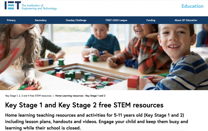 Home learning teaching resources for KS1 and KS2 from the Institution of Engineering and Technology