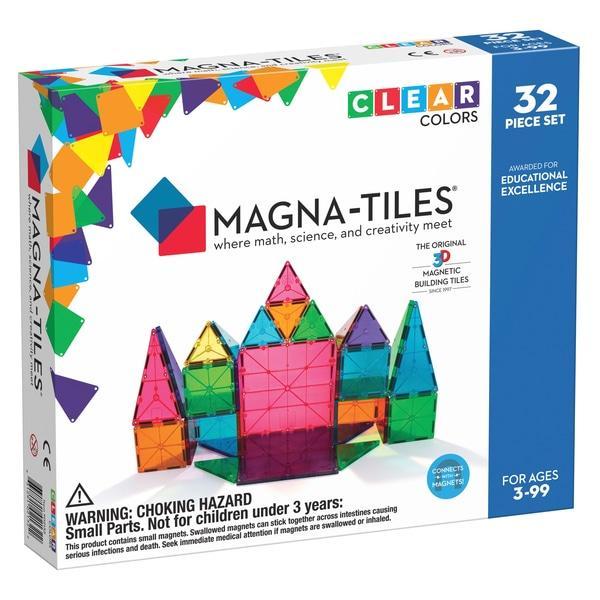 Magna-Tiles Clear Colors 32 Piece DX Set