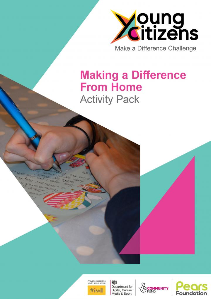 Making a Difference From Home Young Citizens activity pack