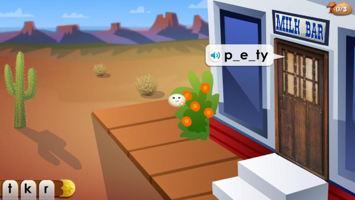 Mystery Word Town Spelling app