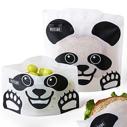 Reusable Sandwich & Snack Bags (Panda)