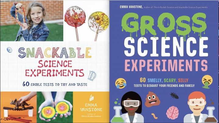 Snackable Science Experiments & Gross Science Experiments by Emma Vanstone