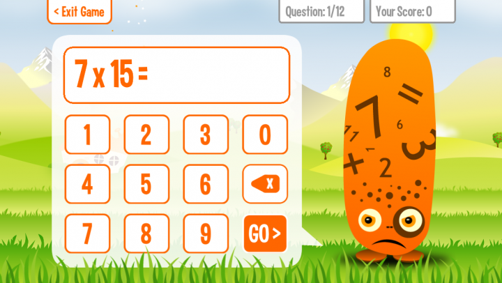 Squeebles Times Tables app