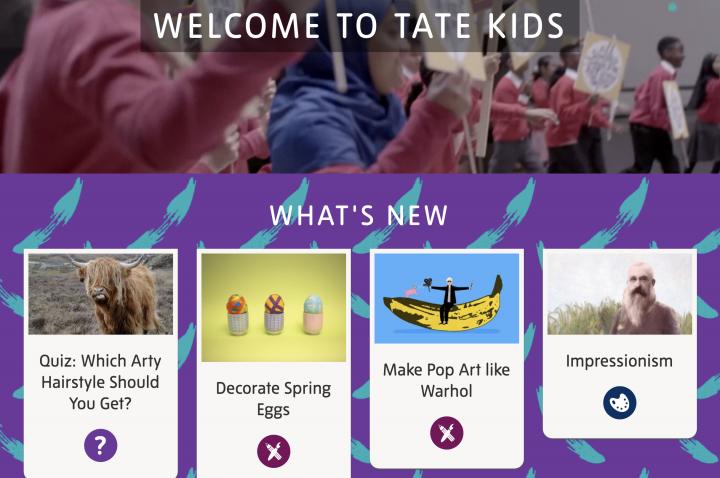 Tate Kids website