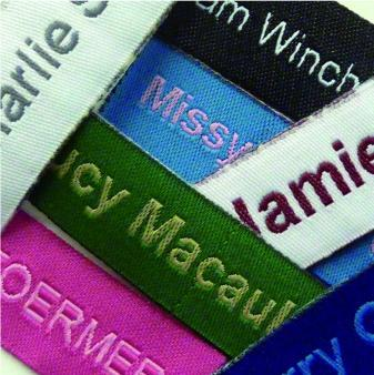 Iron-on Funky Woven Labels, Easy2Name