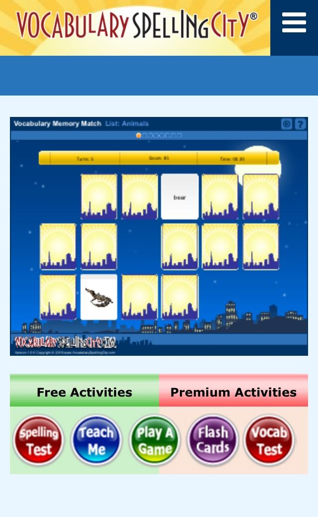 VocabularySpellingCity app