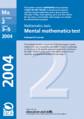 Key Stage 2 - 2004 Maths SATs Papers